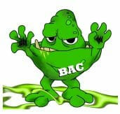 BAC character for promoting the four core practices for food safety to prevent foodborne illness