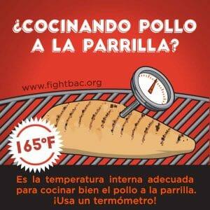 Chicken Grilling Graphic Spanish
