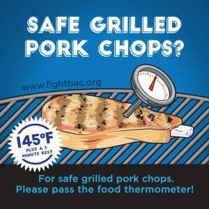 Pork Chop Grilling Graphic