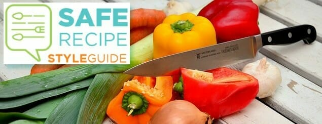 Safe Recipe Style Guide Logo with vegetables