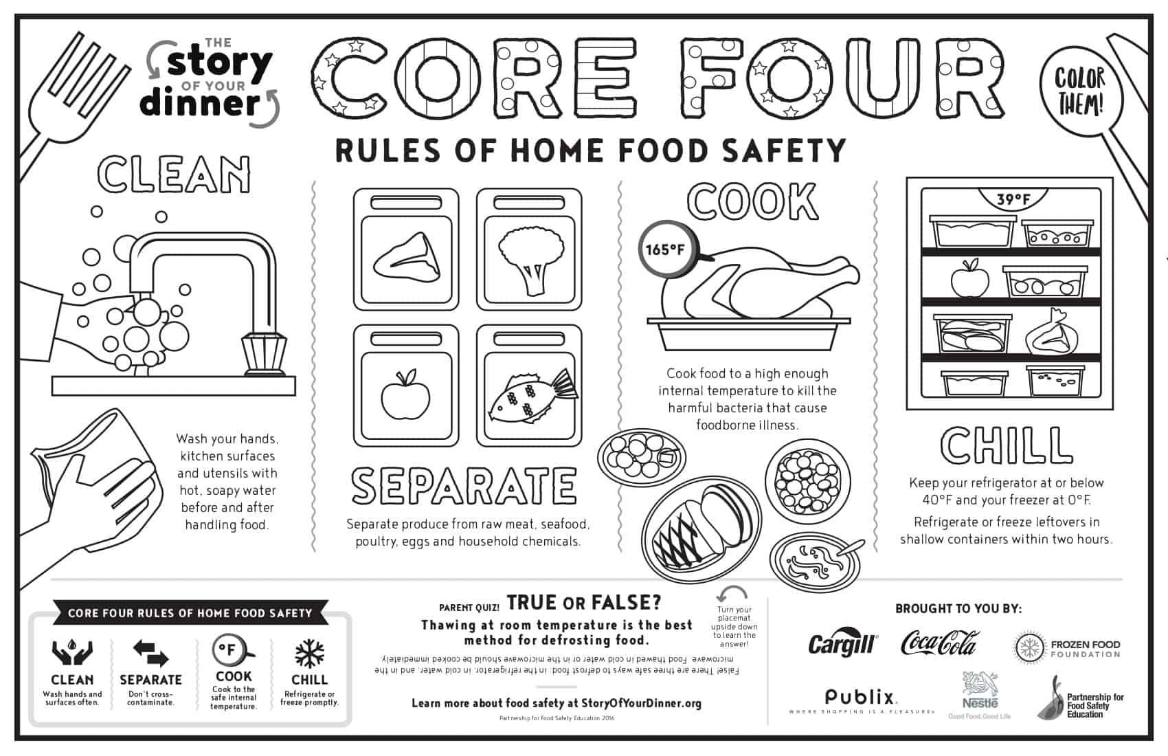 Core Four placemat