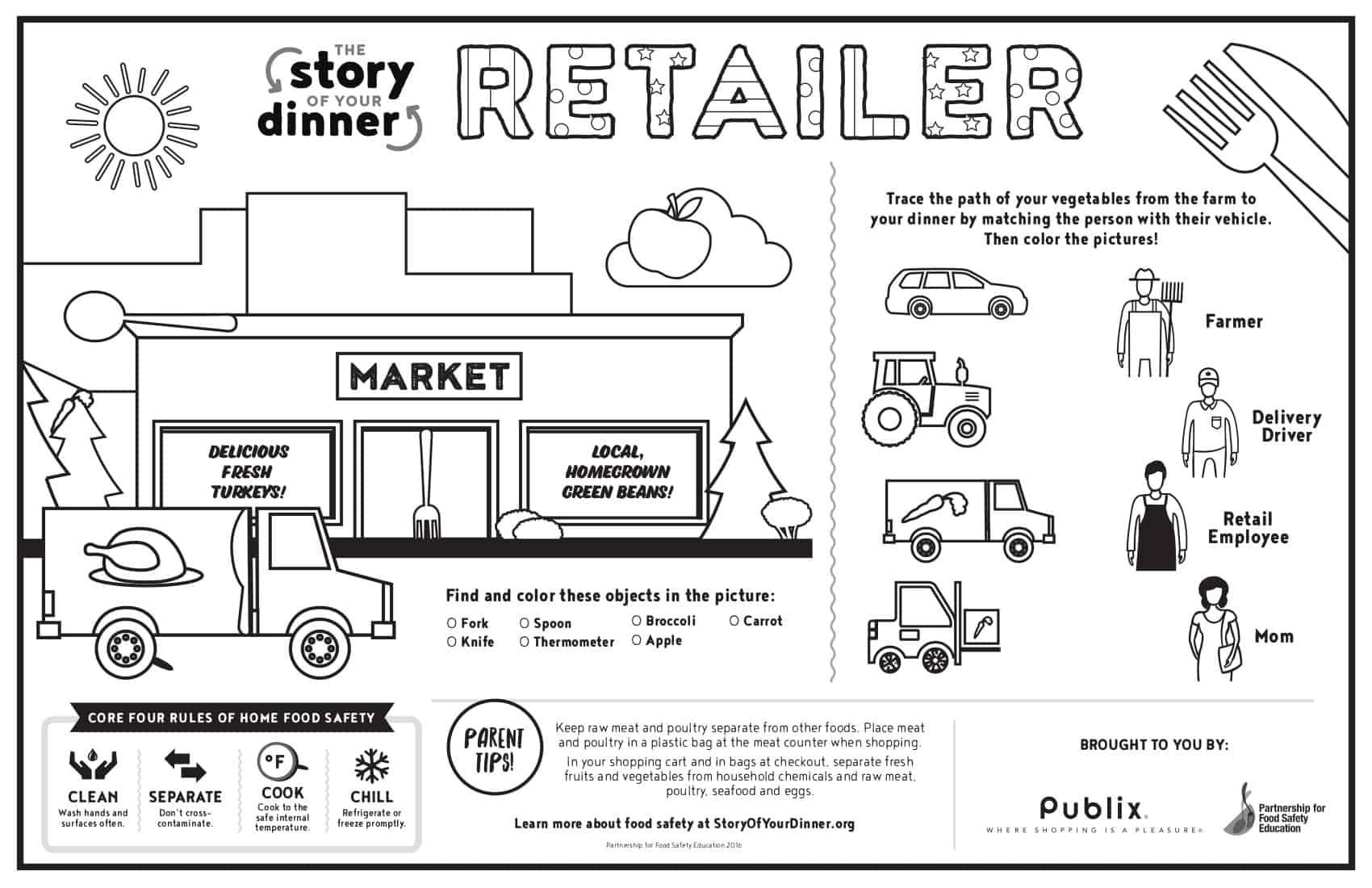 Retailer placemat