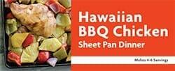 Hawaiian BBQ Chicken Sheet Pan Dinner Recipe
