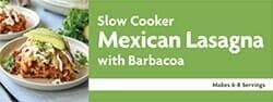 Slow Cooker Mexican Lasagna with Barbacoa Recipe