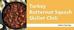 Turkey Butternut Squash Skillet Chili Recipe