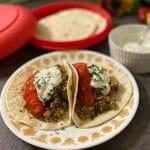 Turkey Tacos with Cilantro Sour Cream