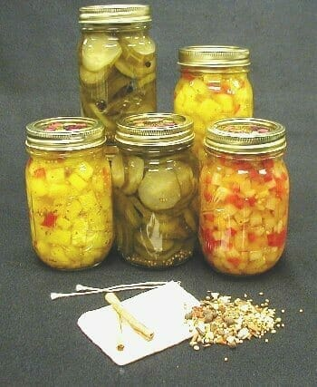 Examples of pickled canned items
